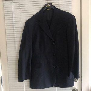 Navy Blue 3 button brooks Brothers suit w/pants